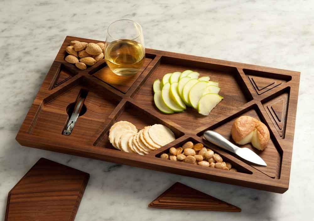 puzzle wooden tray by materious design studio. Black Bedroom Furniture Sets. Home Design Ideas