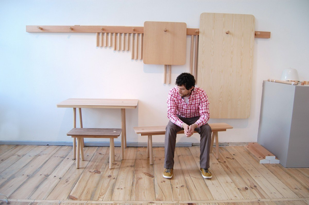 Charmant Wooden Peg Furniture By StudioGorm