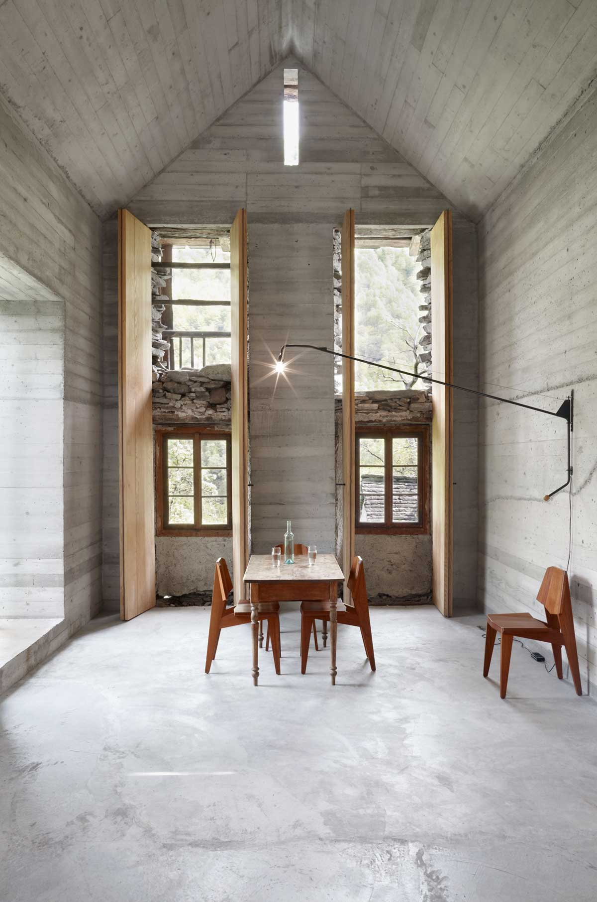 200 year old house with renovated concrete interior holly