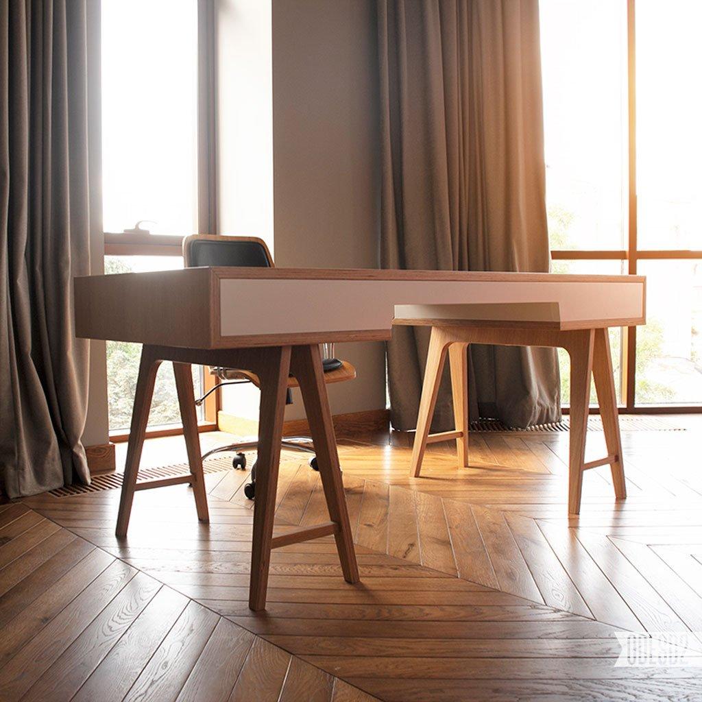 minimalist plywood t4 desk