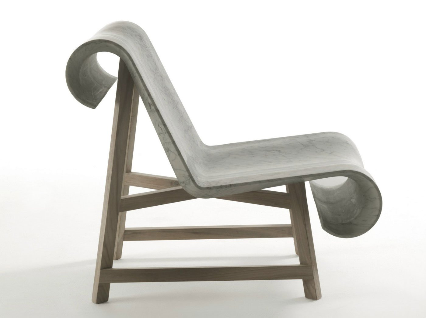 Modern Classic Chair Made of Marble and Wood
